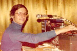 mobile disc jockey, circa 1977